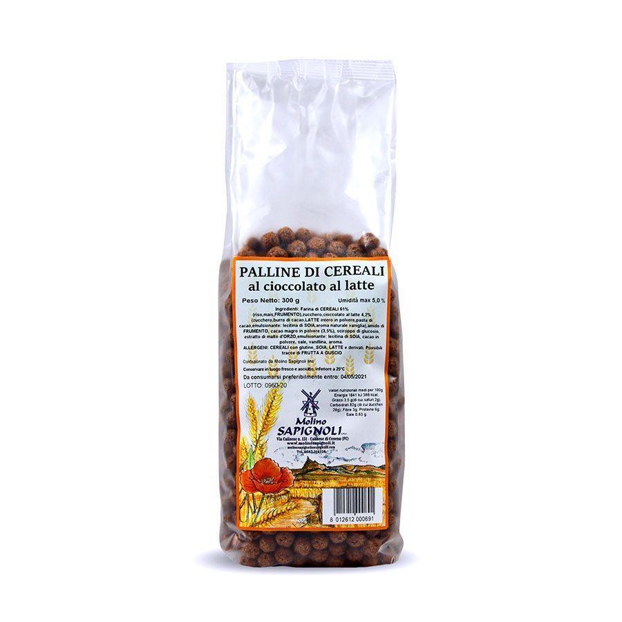Palline di Cereali al cioccolato al latte Molino Sapignoli