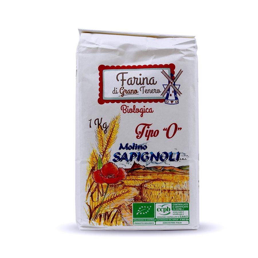 Farina di Grano tenero tipo 0 Bio Molino Sapignoli
